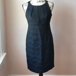Taylor Black and Blue Dress.  Size 6